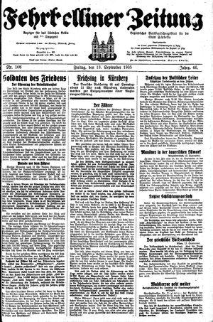 Fehrbelliner Zeitung vom 13.09.1935