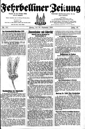Fehrbelliner Zeitung on Sep 20, 1935