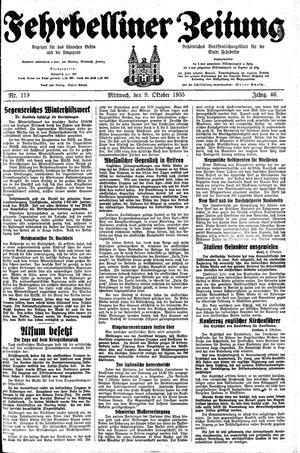 Fehrbelliner Zeitung vom 09.10.1935