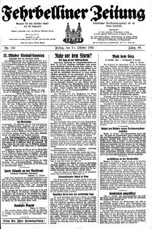 Fehrbelliner Zeitung vom 11.10.1935