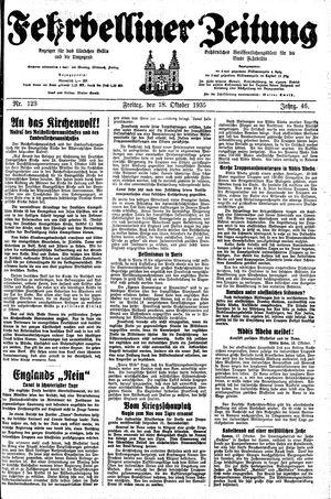 Fehrbelliner Zeitung vom 18.10.1935