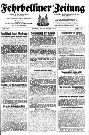 Fehrbelliner Zeitung vom 23.10.1935