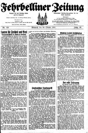 Fehrbelliner Zeitung vom 30.10.1935