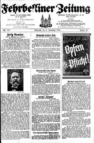 Fehrbelliner Zeitung vom 06.11.1935
