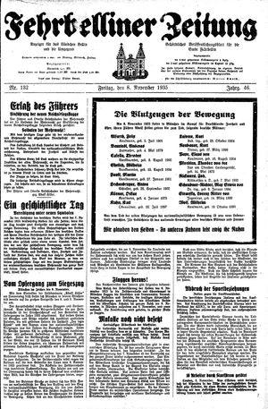Fehrbelliner Zeitung vom 08.11.1935