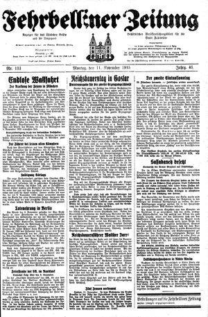 Fehrbelliner Zeitung vom 11.11.1935