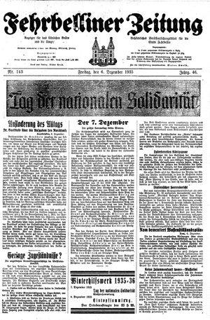 Fehrbelliner Zeitung vom 06.12.1935