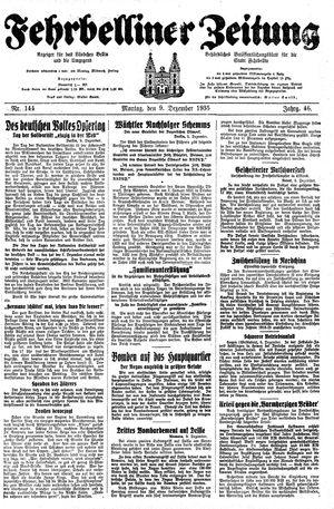 Fehrbelliner Zeitung vom 09.12.1935