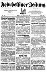 Fehrbelliner Zeitung (18.12.1935)