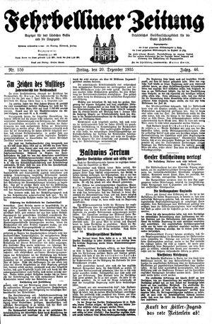 Fehrbelliner Zeitung vom 20.12.1935