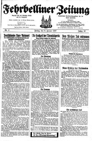 Fehrbelliner Zeitung vom 08.01.1937