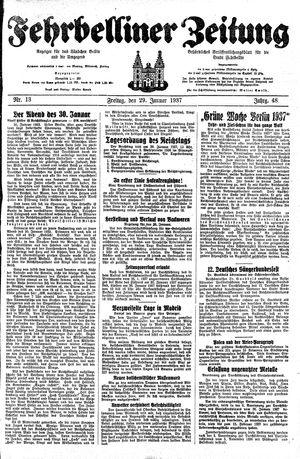 Fehrbelliner Zeitung on Jan 29, 1937