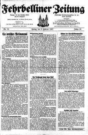 Fehrbelliner Zeitung vom 05.02.1937