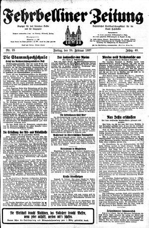 Fehrbelliner Zeitung vom 26.02.1937