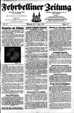 Fehrbelliner Zeitung vom 03.03.1937