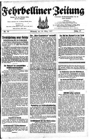 Fehrbelliner Zeitung vom 10.03.1937
