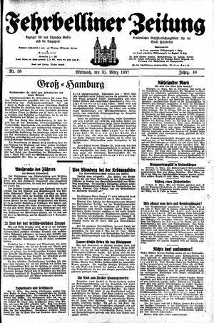 Fehrbelliner Zeitung vom 31.03.1937