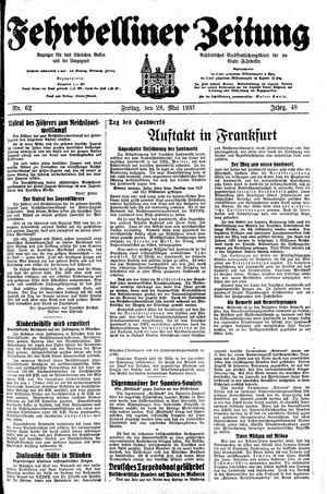 Fehrbelliner Zeitung vom 28.05.1937