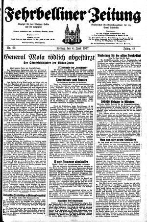 Fehrbelliner Zeitung vom 04.06.1937