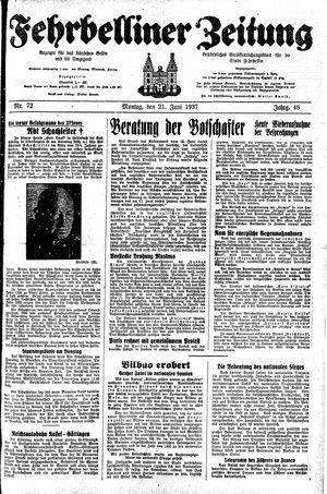 Fehrbelliner Zeitung on Jun 21, 1937