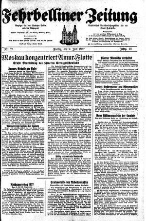 Fehrbelliner Zeitung vom 02.07.1937