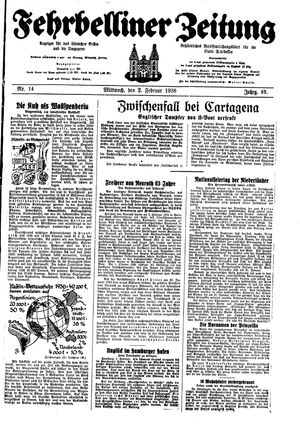 Fehrbelliner Zeitung on Feb 2, 1938