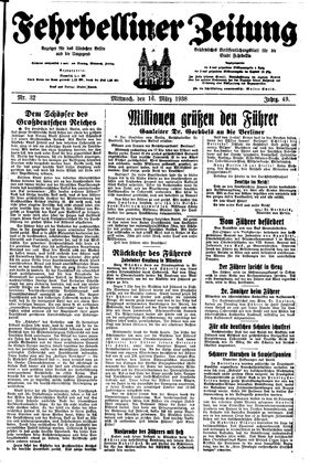 Fehrbelliner Zeitung on Mar 16, 1938
