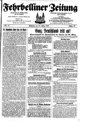 Fehrbelliner Zeitung on Mar 23, 1938