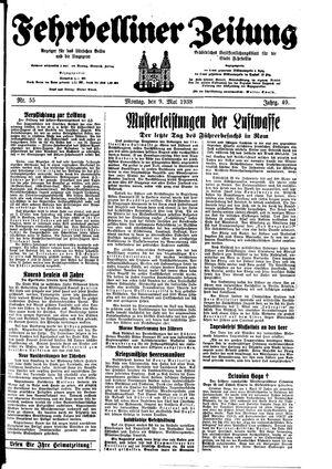 Fehrbelliner Zeitung vom 09.05.1938