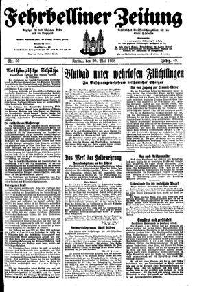 Fehrbelliner Zeitung vom 20.05.1938
