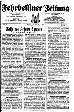 Fehrbelliner Zeitung vom 30.05.1938