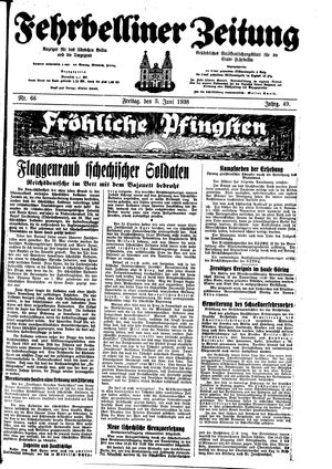 Fehrbelliner Zeitung vom 03.06.1938