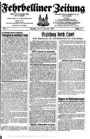Fehrbelliner Zeitung on Jan 16, 1939
