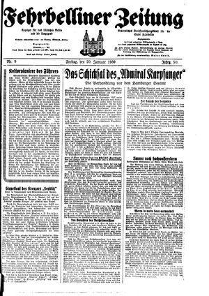 Fehrbelliner Zeitung vom 20.01.1939
