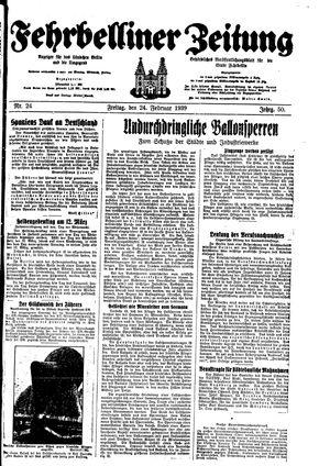 Fehrbelliner Zeitung on Feb 24, 1939