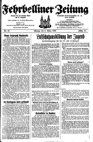 Fehrbelliner Zeitung vom 06.03.1939