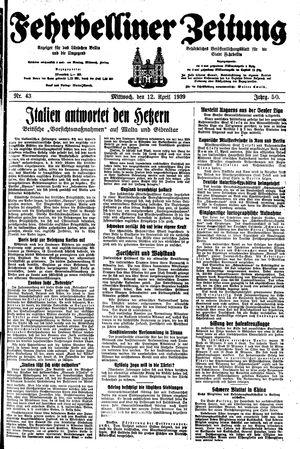 Fehrbelliner Zeitung on Apr 12, 1939