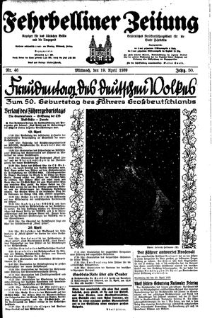 Fehrbelliner Zeitung on Apr 19, 1939