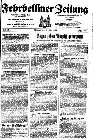 Fehrbelliner Zeitung vom 10.05.1939