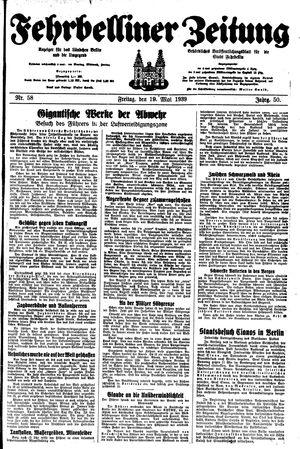 Fehrbelliner Zeitung vom 19.05.1939