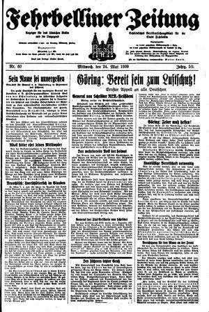 Fehrbelliner Zeitung on May 24, 1939