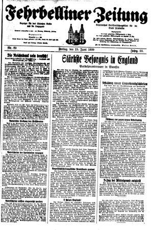 Fehrbelliner Zeitung vom 15.06.1939