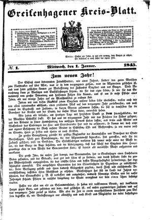 Greifenhagener Kreisblatt on Jan 1, 1845