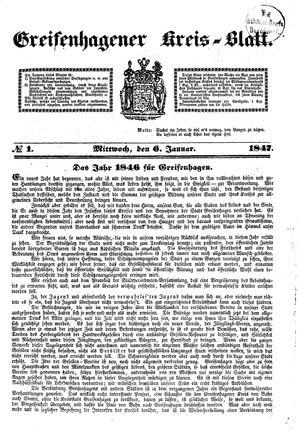 Greifenhagener Kreisblatt vom 06.01.1847