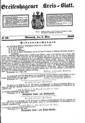 Greifenhagener Kreisblatt vom 05.05.1847