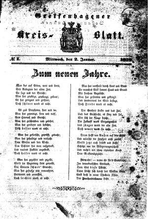 Greifenhagener Kreisblatt vom 02.01.1850