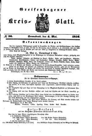 Greifenhagener Kreisblatt vom 04.05.1850