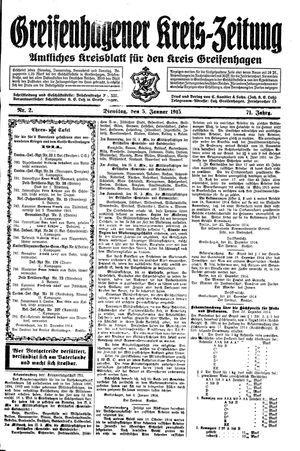 Greifenhagener Kreiszeitung vom 05.01.1915