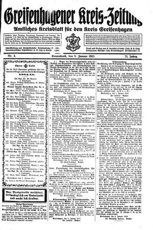 Greifenhagener Kreiszeitung on Jan 9, 1915