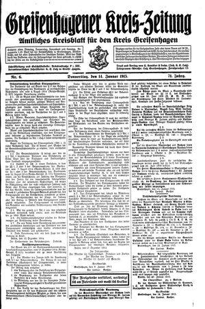 Greifenhagener Kreiszeitung vom 14.01.1915